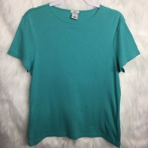Old Navy Sea Foam Green Scoop Neck Top Medium